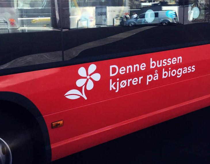 BEST I LANDET: Med de nye bussene torner Østfold fylkeskommune øverst av fylker med flest miljøvennlige busser. FOTO: SKAGERAK NATURGASS