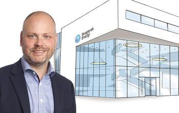 KONSERNDIREKTØR: Kristian Norheim (40) begynner som konserndirektør for kommunikasjon og myndighetskontakt i Skagerak Energi 1. mai.  FOTO: KJERSTI HAUGEN