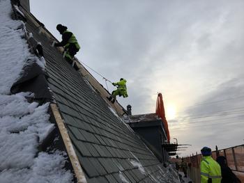 Kostbare snøfangere på verneverdig bygg