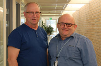 Yngvar Skreosen (t.v.) og Kjell Gunnar Aske.