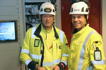 Huse og Svendsen ved nytt kontrollanlegg