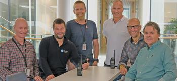 Prosjektdeltagere fra Skagerak Nett og DSB