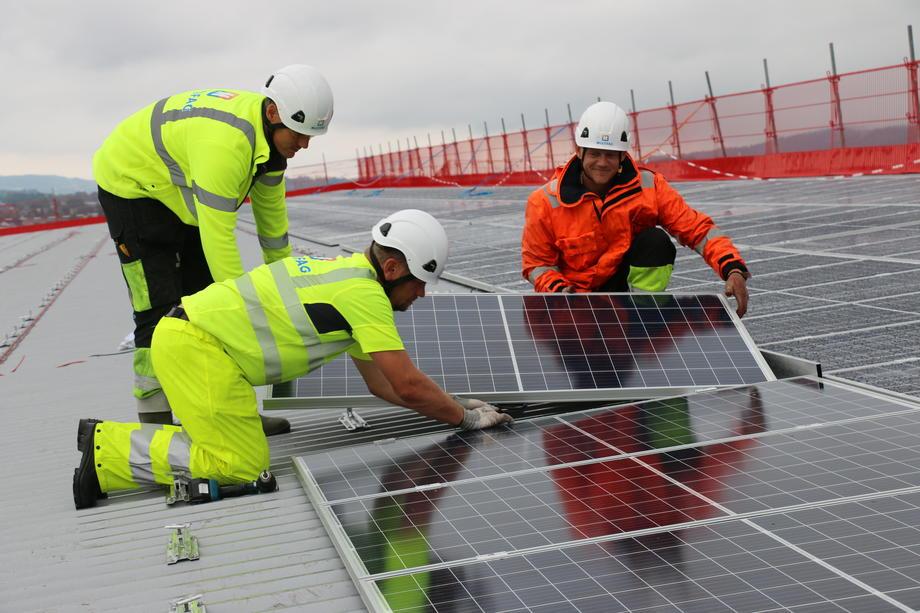 Montasje av solceller
