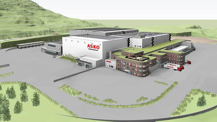 Tegning av nytt Asko-lagera i Sande