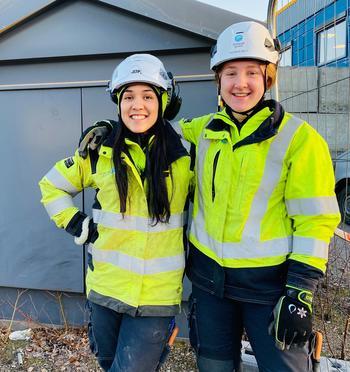 Erika og Frida er lærlinger hos Skagerak Nett.